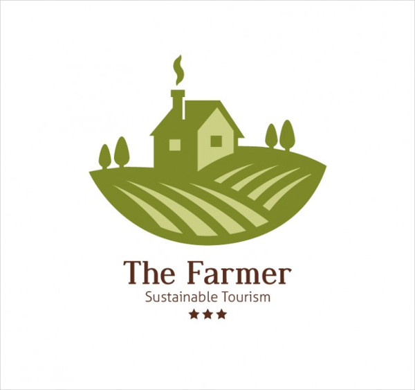 The Farmer Logo Free Vector