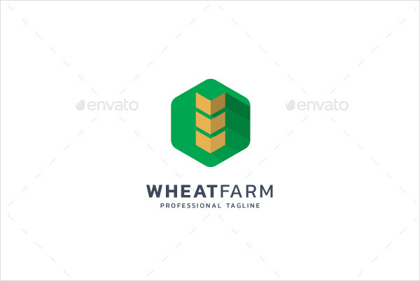 Latest Wheat Farm Logo Template