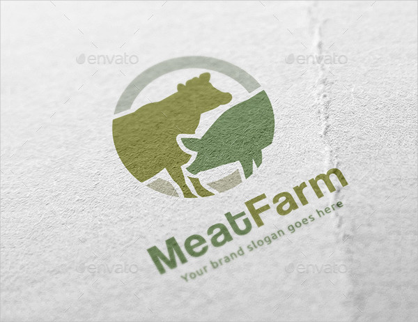 Meat Farming Logo Template