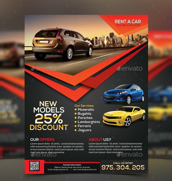 Rental Agencys: 25+ Car Rental Flyer Templates
