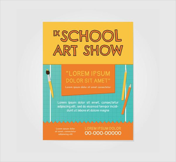 School Art Show Invitation Flyer Free