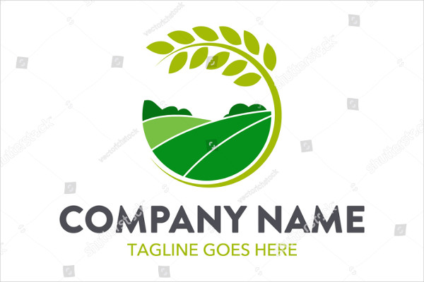 Unique Farming Logo Template