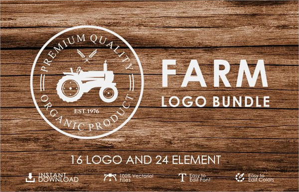 Set of Vintage Farm Logo Templates Bundle