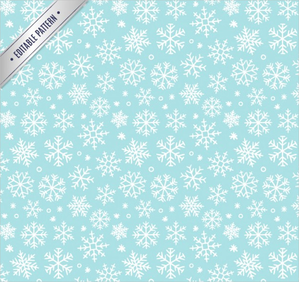Winter Snowflakes Pattern Vectors Free