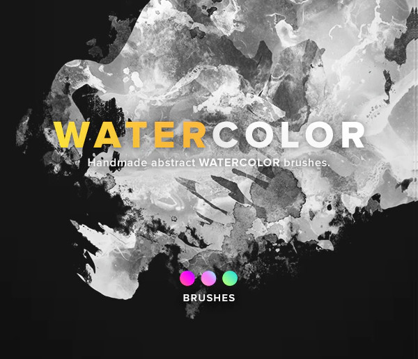 10 Watercolor Brush Pack for Web Design