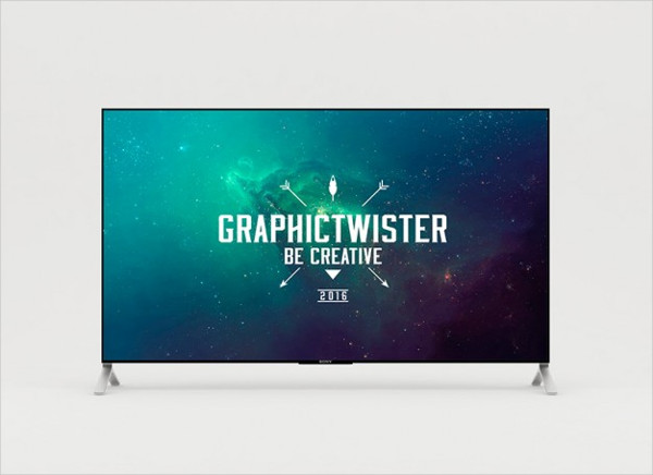 4k Television Mock-Up Free PSD