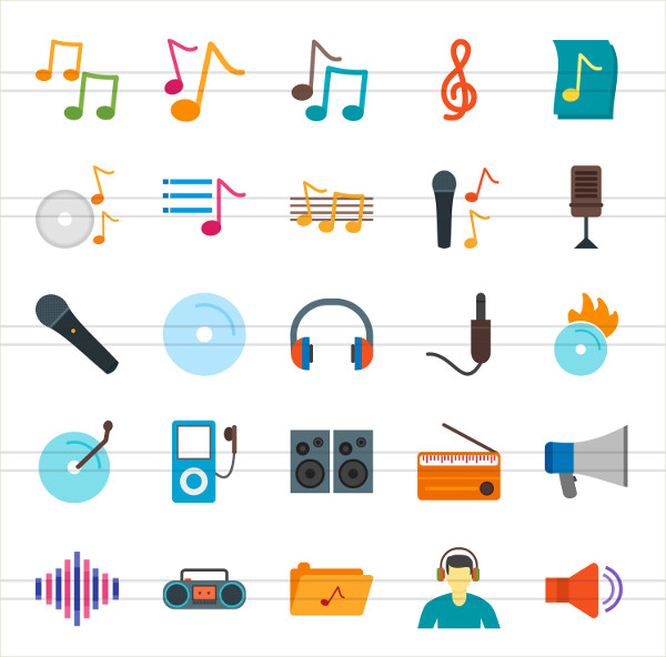 50 Music Note Icon Set