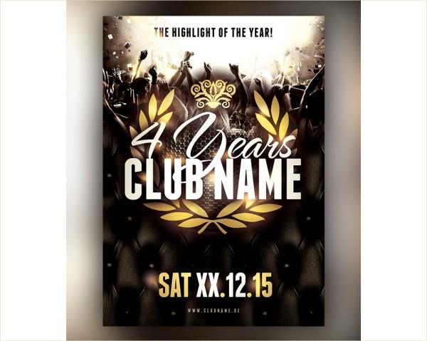 Anniversary Club Flyer Template