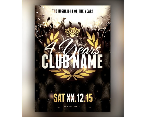 Anniversary Club Flyer Template