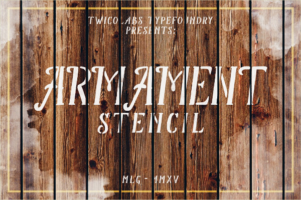 Armament Stencil Regular Font