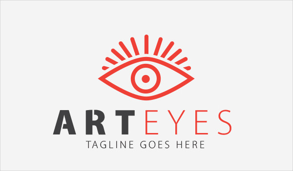Art Eye Vision Logo Template