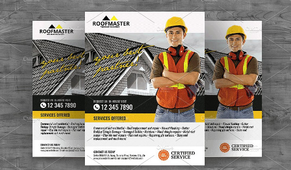 Attractive Roofing Flyer Template