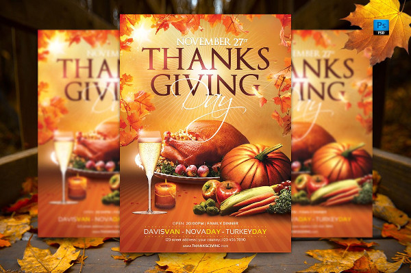 Attractive Thanksgiving Day Flyer Template