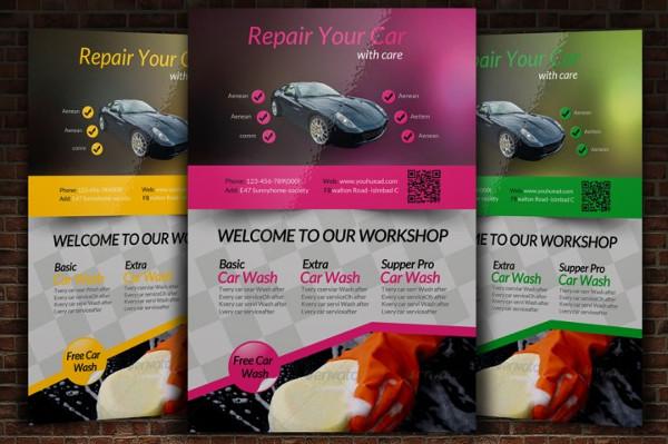 Auto Repair Shop Advertising Flyer Template