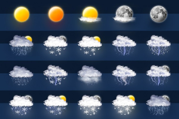 Awesome 40 Weather Icon Set