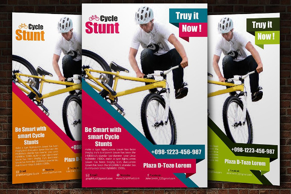 Awesome Bicycle Flyer PSD Template