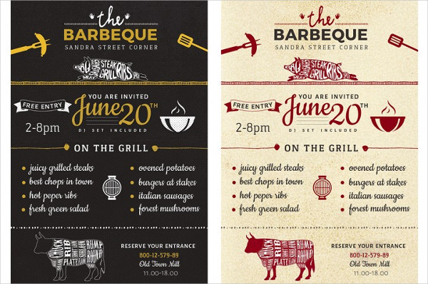 Barbecue Menu Flyer Template