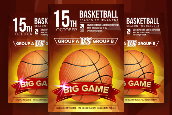 Basketball Opportunity Poster Template
