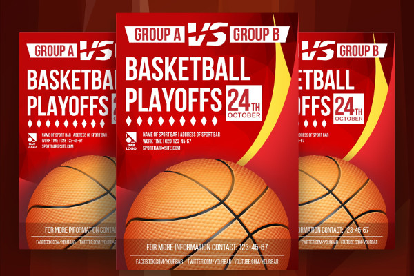 Basketball Tryout Poster Template