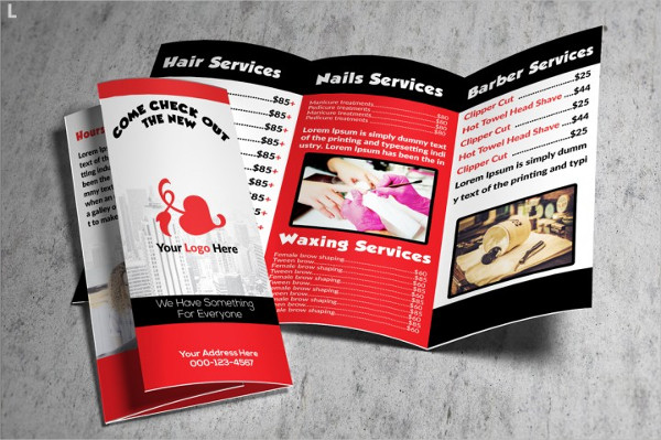 Beauty Salon Brochure Design