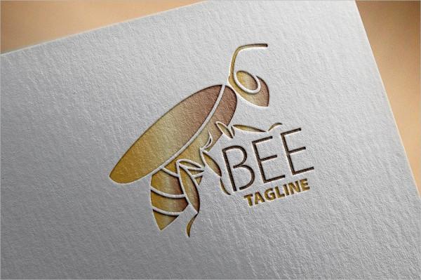 Bee Happy Logo Template