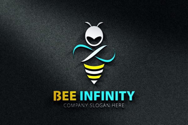 Bee Infinity Logo Template
