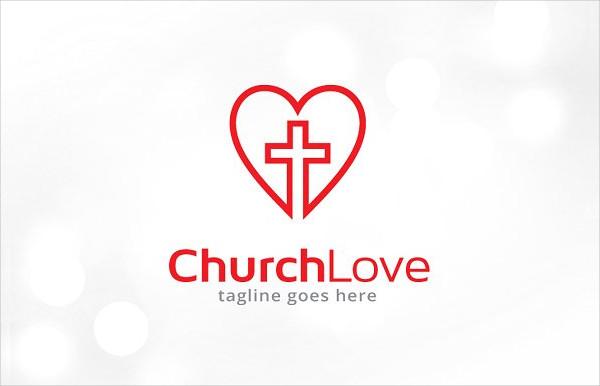 Best Church Love Logo Template