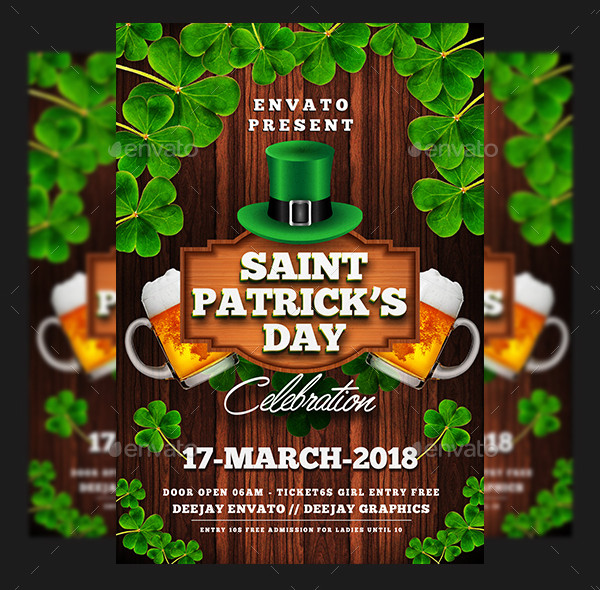 Best St Patricks Day Flyer Template