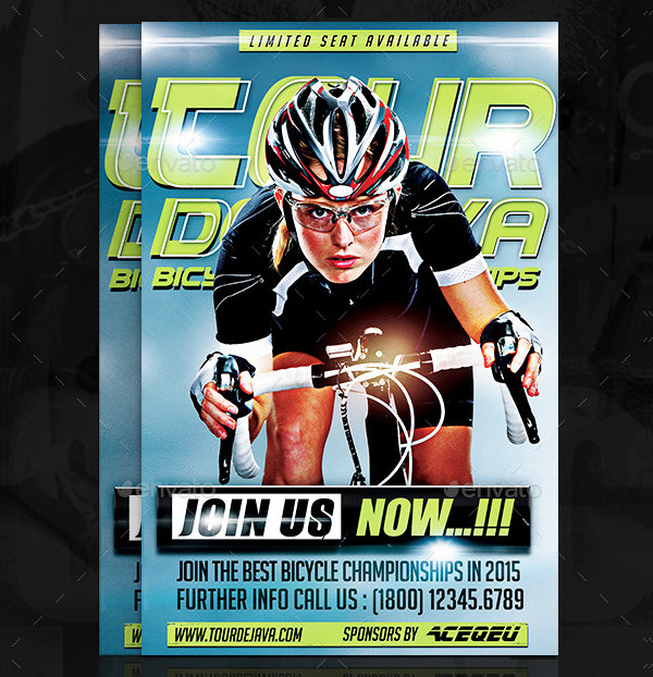 Bicycle Championships Flyer Template