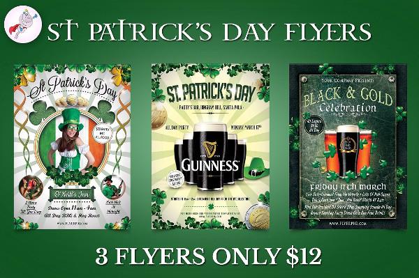 Big St Patricks Day Flyer Templates Bundle