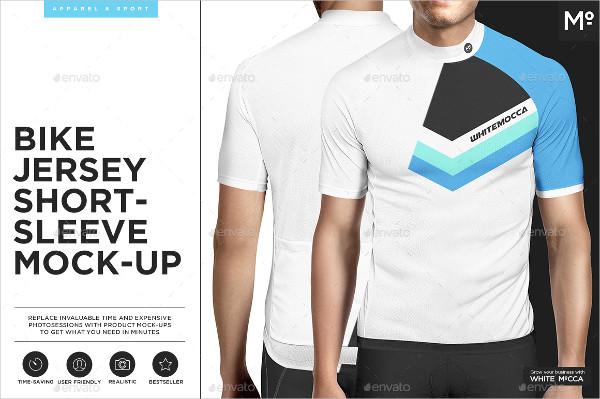 Bike Jersey Short-sleeve Mock-up