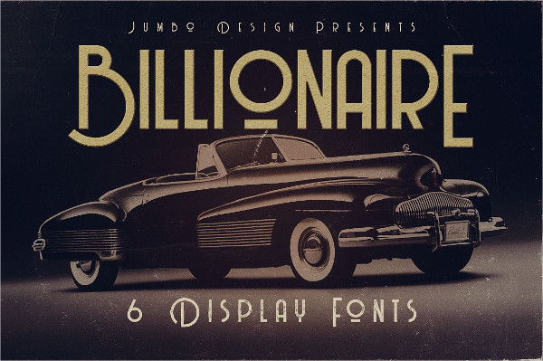 Billionaire Display Font