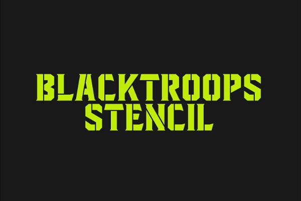 Blacktroops Stencil Logo Font