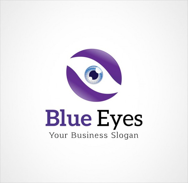 Blue Eyes Logo Template Free Vector