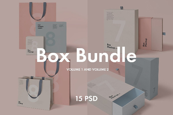 Box and Bag Mock-Ups Bundle