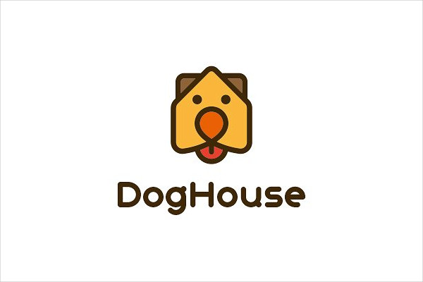 Branding Dog House Logo Template