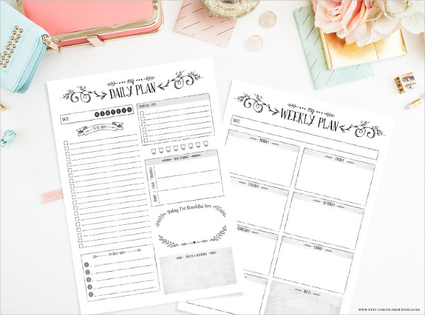 Simple Daily & Weekly Planners