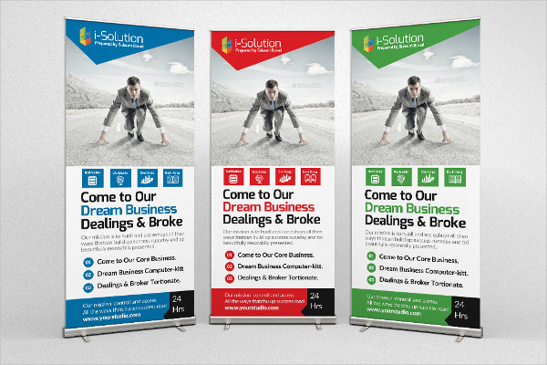 Business Innovation Roll Up Banners