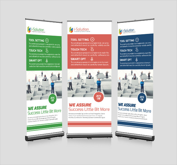 Business Problem Solution Roll Up Banners