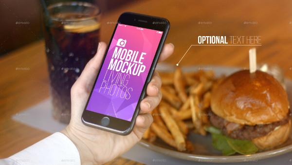 Cafe Restaurant Mobile Mockup