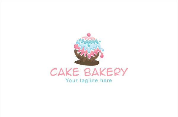 Cake Bakery Store Logo Design Template