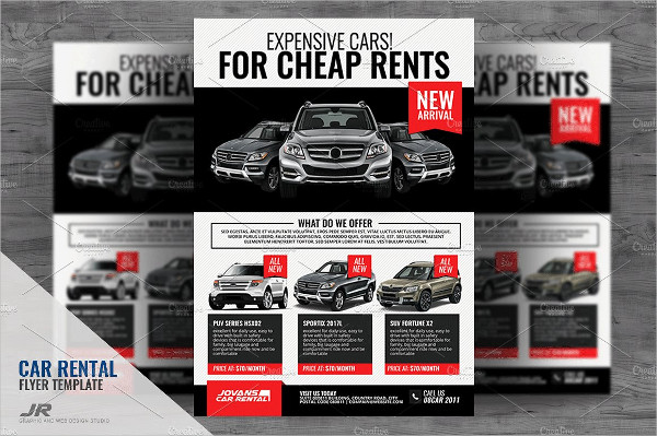 Car Rental and Dealership Flyer Templates