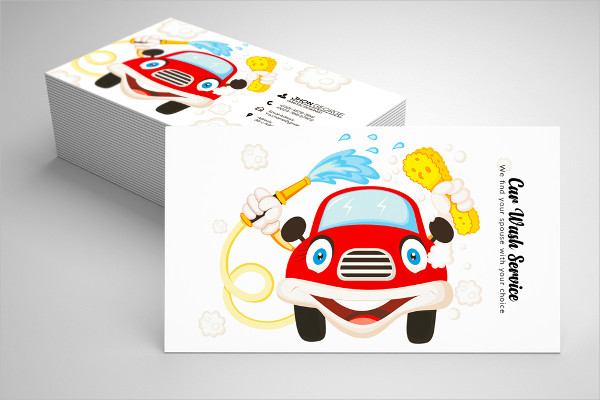 Car Wash Business Cards PSD