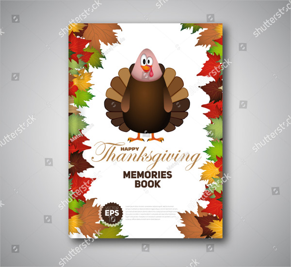 Cartoon Thanksgiving Flyer Template