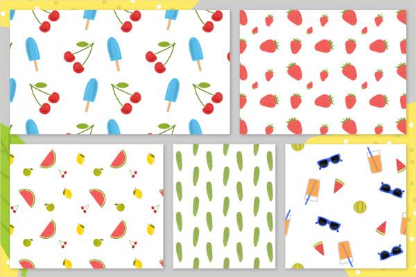 36 Cheerful Summer Pattern Set