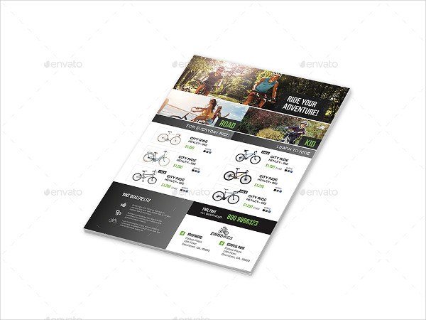 Clean Bicycle Shop Flyers