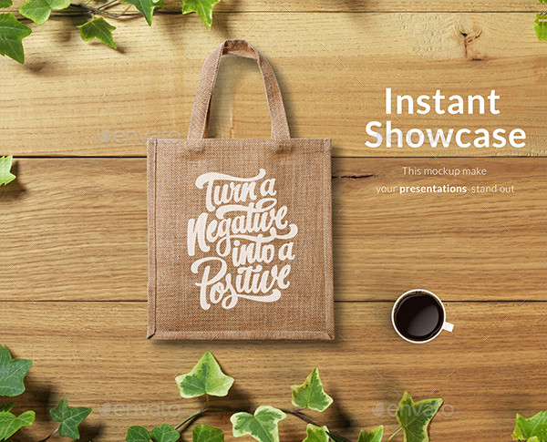 Clean Eco Bag Mockup