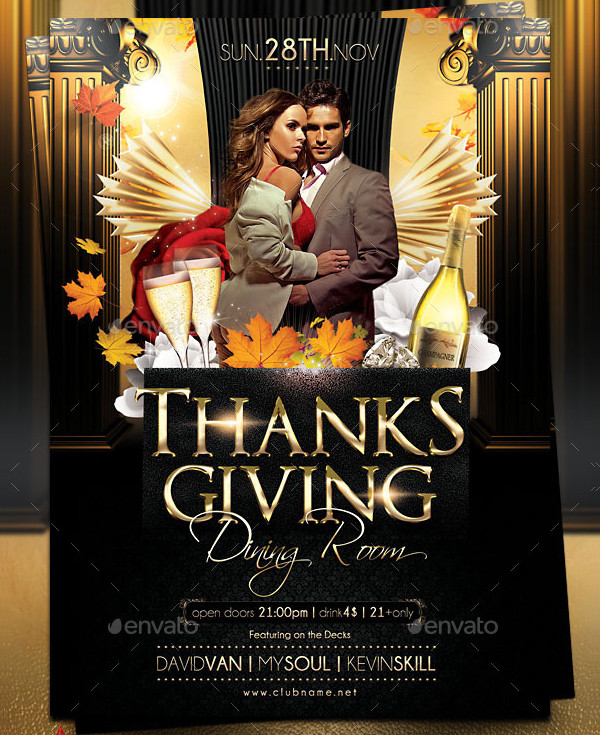 Clean Thanksgiving Day Flyer Template