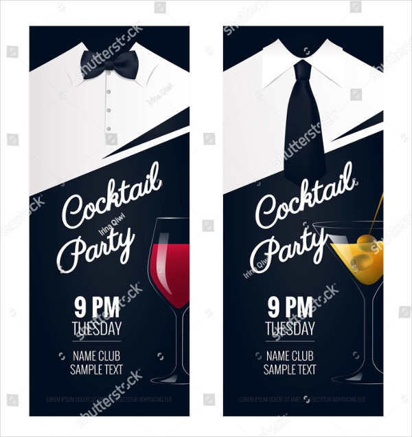 Cocktail Party Invitation Design Flyer