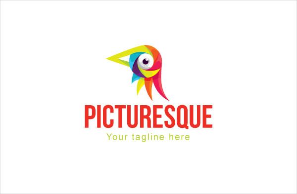 Colorful Bird Eye Stock Logo Template